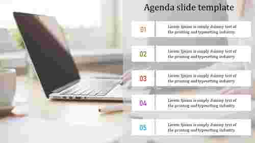 Agenda slide template PPT